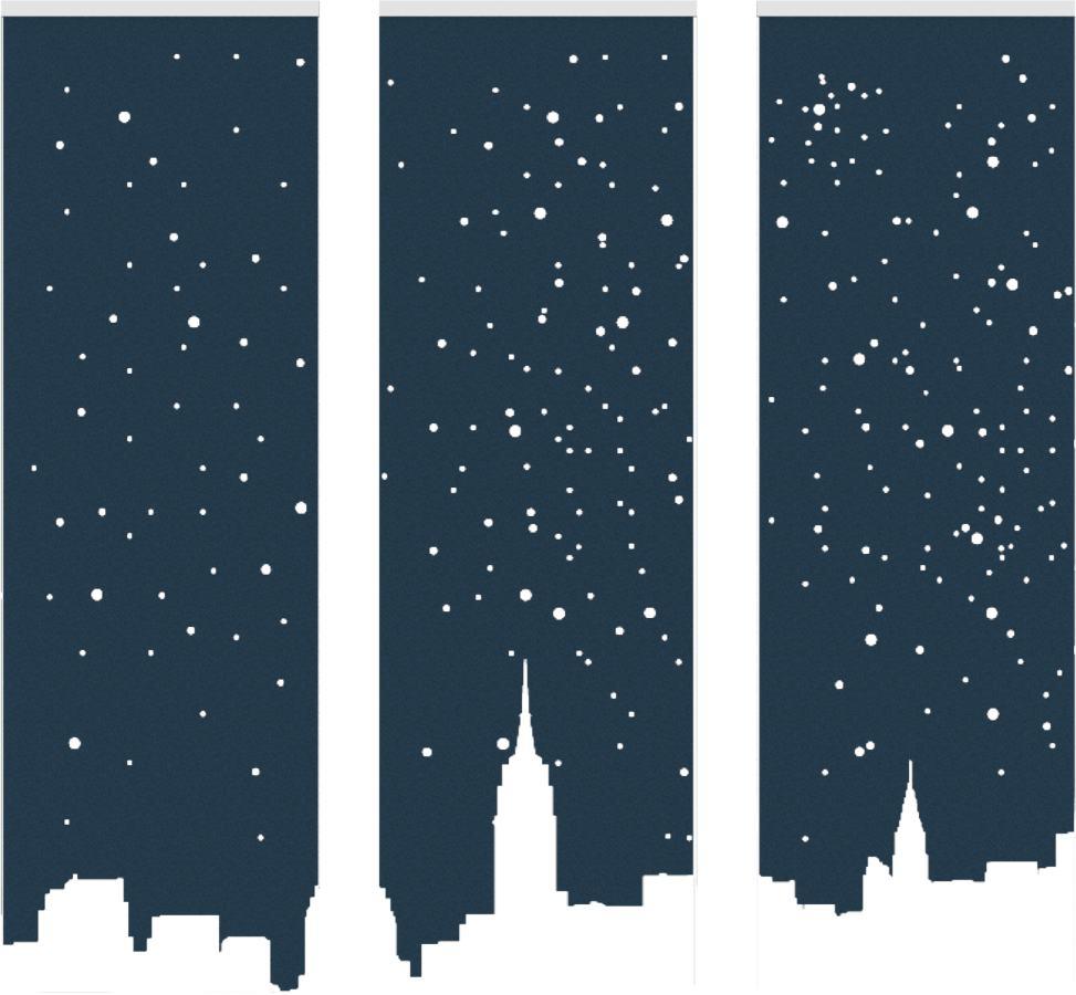 Een afbeelding van een akoestische ruimteverdeler op Akoestiekspecialist genaamd BuzziSpace BuzziFalls Skyline New York.