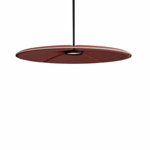 Een afbeelding van een akoestische hanglamp op Akoestiekspecialist genaamd Abstracta Lily 900.