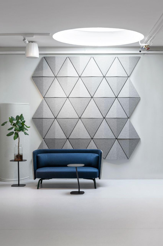 Een afbeelding van een akoestisch wandpaneel op Akoestiekspecialist genaamd Abstracta Bits Wall.