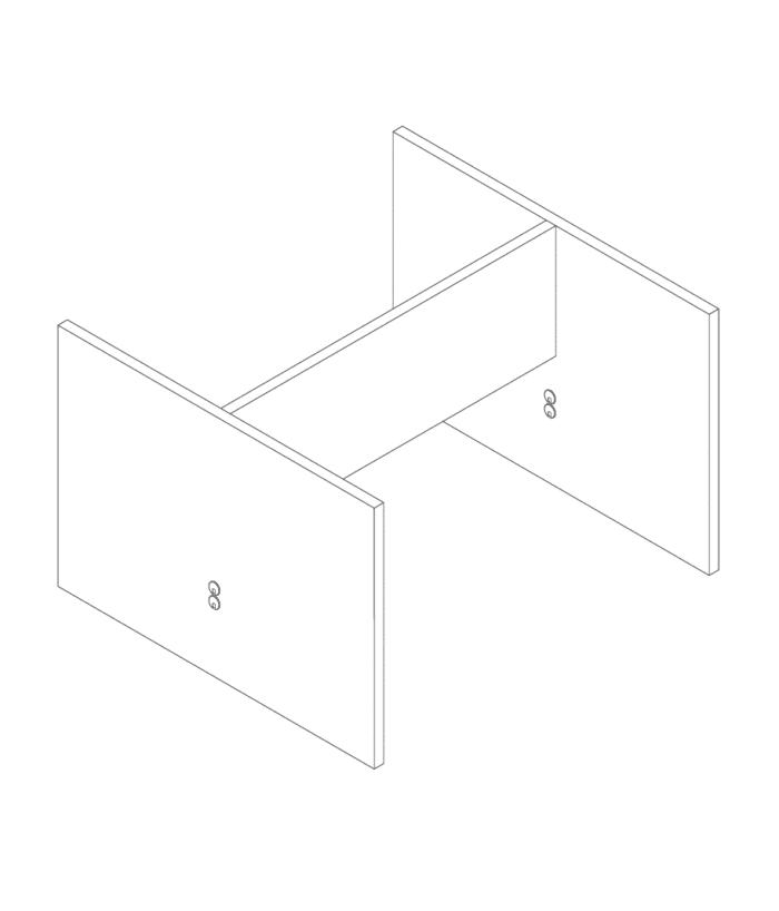 Een afbeelding van een akoestisch bureauscherm op Akoestiekspecialist genaamd Deblick Bureauscherm Duo Basic.