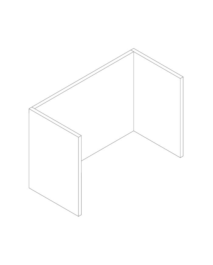 Een afbeelding van een akoestisch bureauscherm op Akoestiekspecialist genaamd Deblick Bureauscherm Mono Basic.