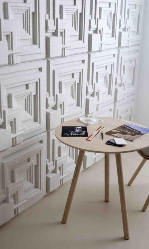 Een afbeelding van een akoestisch wandpaneel op Akoestiekspecialist genaamd Offecct Soundwave® Ennis.