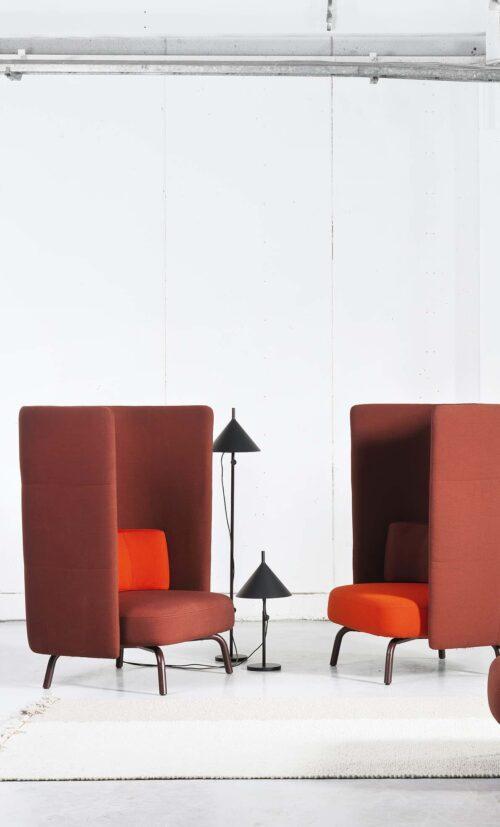 Een afbeelding van een akoestische meubel op Akoestiekspecialist genaamd Lammhults Portus.